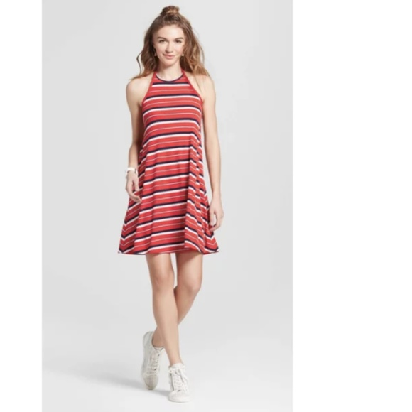 Mossimo Supply Co. Dresses & Skirts - Mossimo Summer Women  Knit Halter Dress Red Dress